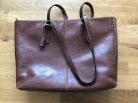 Gianni Conti brown leather women's handbag