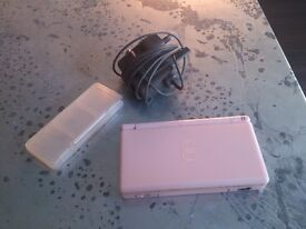 DS Lite pink with charger and 1 game