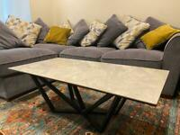 Grey marble coffee table