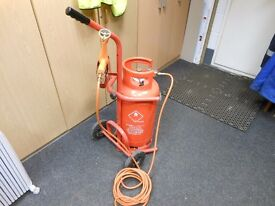 ripack 2200 heatshrink gun complete with trolley , hoses and regulator