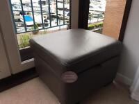 Brand new with tags, leather storage foot stool