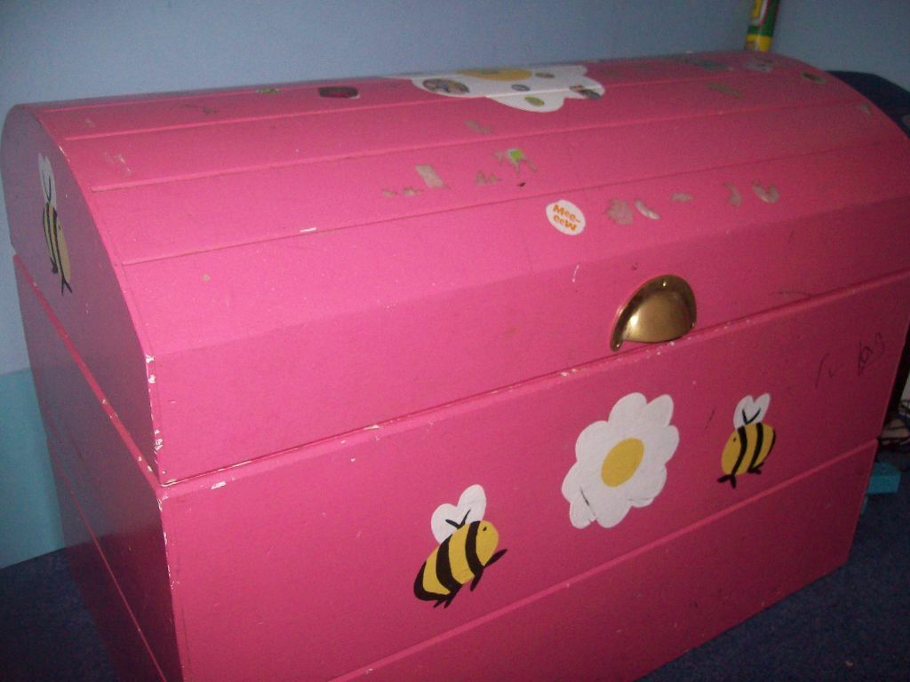 Pink Wooden Ottoman Toy Box | in Caerphilly | Gumtree