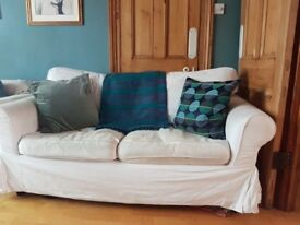 Ikea Ektorp 2 seater sofa, white removable cover - good condition (£249 new)