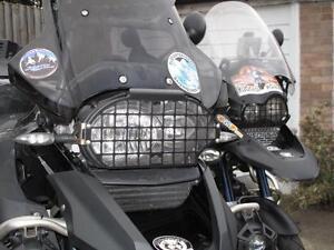 Rugged Roads - BMW R1200GS & R1200GSA - Black Headlight Guard - 1015