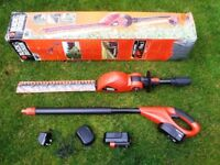 Black and Decker Cordless Pole Hedge Trimmer.