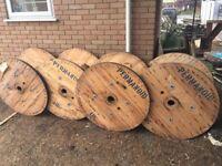 Industrial cable reel for DIY rustic garden table