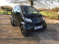 SMART CITY COUPE 7 2003 SEMI AUTO IN BLACK LONG MOT. HISTORY. LOW MILES ONLY DONE 50K. DRIVES SUPERB