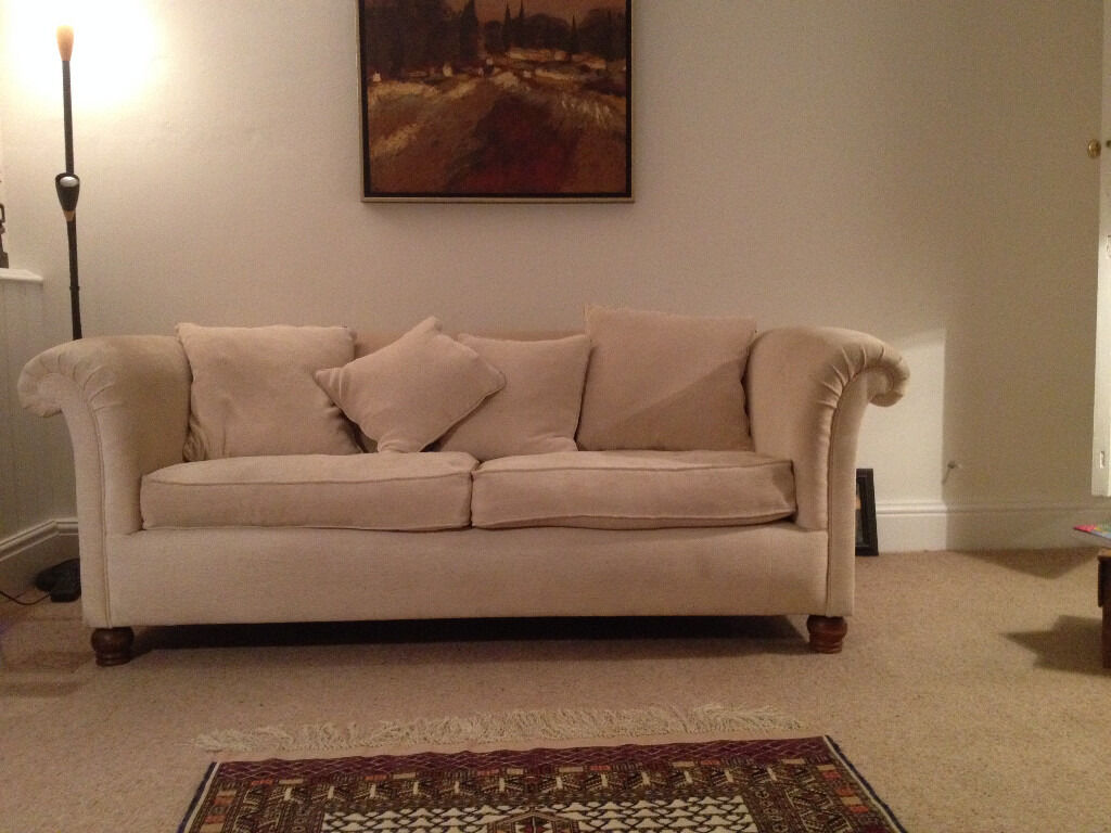 Three Seater Beige Sofa Ex John Lewis Free To Whoever