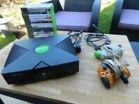XBOX BUNDLE CONSOLE, CONTROLLERS AND 16 GAMES GOOD WORKING CONDITION