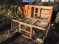 Rabbit Hutch with run underneath only 6 months old