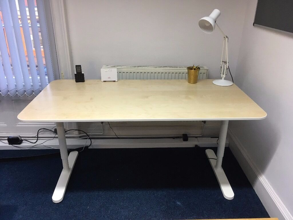 ikea bekant desk in birch veneer and white 160 x 80 cm in york north yorkshire gumtree. Black Bedroom Furniture Sets. Home Design Ideas