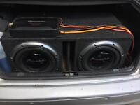 Pioneer subs and amp