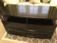 High black gloss Merino TV Unit from Sterling.
