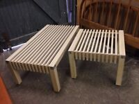 Pair of Outdoor Wooden Tables