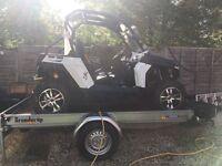 Quadzilla, CFMoto Z6 Side by Side buggy with custom 2k trailer