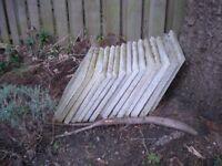Fifteen concrete garden paving slabs (45 cm. x 45 cm.)