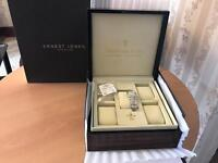 Dreyfuss & Co. Luxury Ladies Watch Series 1890 - New Battery, Bracelet Strap, Swiss Hand Made