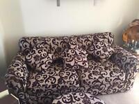Large sofa & Puffy
