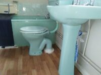 Retro pale blue Twyfords bathroom suite