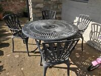 Lovely heavy cast garden furniture set
