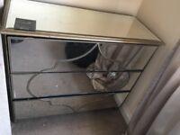 Mirror 3 drawer chest