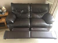 Two leather seater sofa