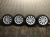 "Genuine 17"" Audi A6 se Alloy Wheels- 5x112 - will fit VW, Seat , Skoda etc"