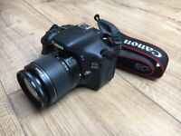 Canon EOS 600D SLR camera with 18-55mm lens