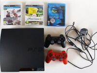 Sony Playstation 3 Slim (with games and bluray)