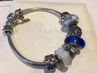 Pandora Bracelet with genuine Pandora charms - fab valentines present