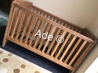 3 in 1 Oak Cot Bed, From Infant to Toddler. BRAND NEW. RRP £500