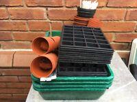 Seed Incubators, Seed Trays, Pots, Sieve, Plant Labels and Potatoe Sacks