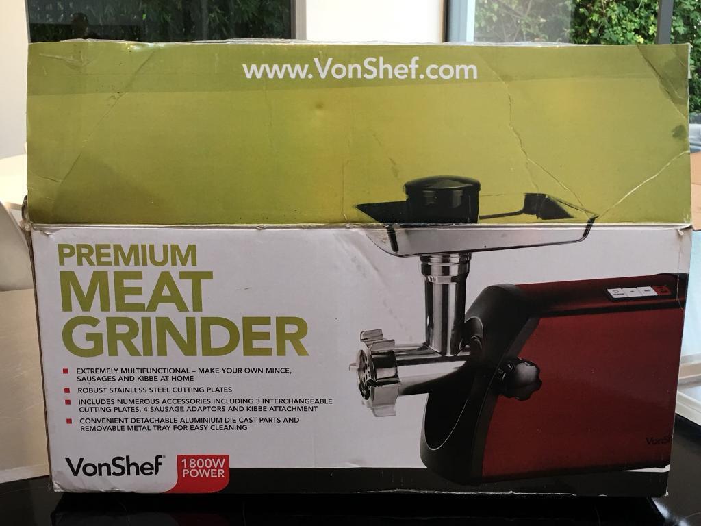 Von Shef Premium Meat Grinder in Red