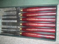 RECORD RPCHS6 6 PIECE WOODEN LATHE TURNING CHISELS