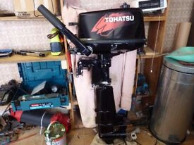 tohatsu 2 stroke 5hp outboard engine short shaft