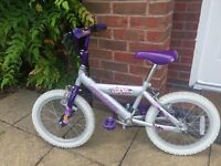 16 inch - Girls Bike Magna Tropical Splash. Age 4-7