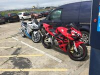 honda cbr 600 rr low mileage, almost a years MOT with no advisories