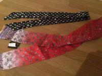 Handbag/ neck ties