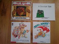 Australian children's books. The Bunyip of Berkeley's Creek, A Devilish Tale, and two by Mem Fox