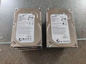 "500GB 3.5"" SATA Hard Drives - Job Lot of 10 units"