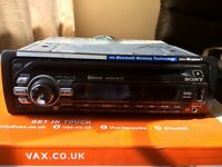Sony Bluetooth car stereo CD player with USB and AUX less than six month old