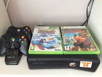 Xbox 360 250gb + Infinity & Skylanders sets + Games + 2x Wireless Controllers + Charger + Fan