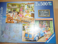 Jigsaw puzzles by Ravensburgh - 500 pices, all complete, very good condition. Pet free non smoking