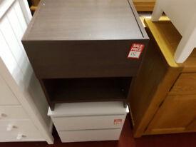 Denver 1 drawer bedside - Wenge