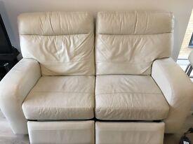 Free 2 seater sofa, electronic recliner has broken but could be fixed, collect from address.