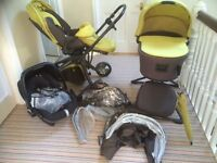 Mamas and Papas Mylo travel system, accessories and car seat