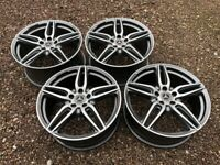 """Genuine 19"""" Mercedes W213 E Class AMG Staggered Alloy Wheels Grey Polished Face"""