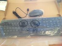 Wired computer keyboard and mouse for sale