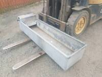 6ft galvanised water trough with float farm livestock tractor