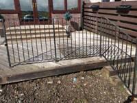 Metal fence Railings & step